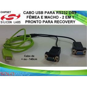 Cabo Adaptador Usb Serial Rs232 Db9 Fêmea E Macho - 2 Em 1