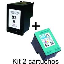 Kit 2 Cartucho Comp 93 E 92 P Hp Photosmart C3150 C3180 C410