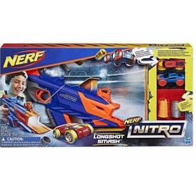 Nerf Longshot Smash Nitro Pistola Lanza Autos Hasbro