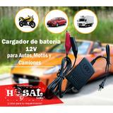 Cargador De Baterias 12v Para Autos, Motos, Cuatrimotos
