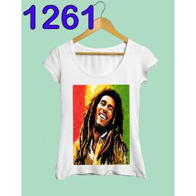 Blusa Bob Marley Feminina Reggae Rastafari Rasta