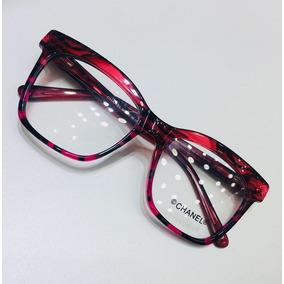 Óculos Para Grau Tartaruga Vermelho Com Rosa Quadrado -cn703 b93c02a378