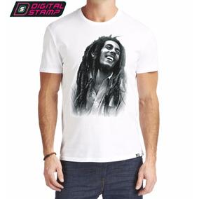 Remeras Estampadas Reggae Bob Marley 4 Premium Digital Stamp