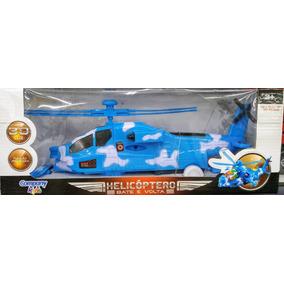 Brinquedo Helicóptero Bate E Volta - Movido A Pilha Luzes 3d