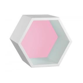 Nicho Hexagonal Mdf Favo Maxima Branco rosa Cristal Fjwt por Madeira Madeira 92a293671d