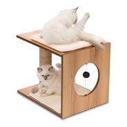 Mueble Taburete Rascador Para Gatos V-stool Vesper (nogal)