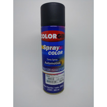 Tinta Spray Colorgin Automotivo Preto Acetinado 300ml