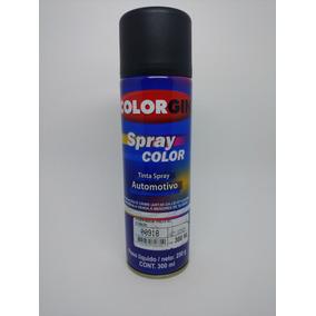 Tinta Spray Colorgin Automotivo Preto Acetinado 300ml