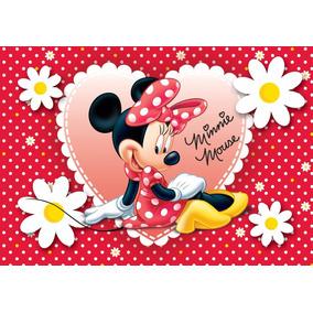 Painel De Decoração 2 X 1,50 Minnie Vermelha E Rosa. 48h