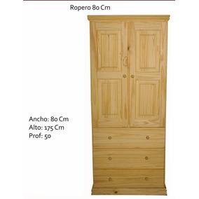 Placar Ropero Pino Macizo 2 Puertas 3 Cajones De Fabrica