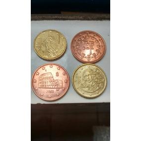 4 Moedas De 5 E 10 Centavos Do Euro
