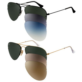 gafas de sol ray ban flip out aviator intercambiables