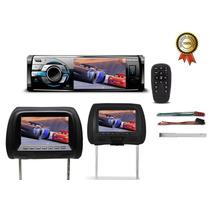 Kit Dvd Player Onix Usb Sd Aux Tv + Par De Encostos