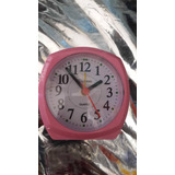 Reloj Despertador Con Luces Rosado, Verde Y Amarillo