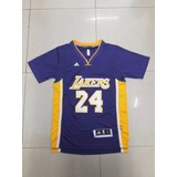 Camiseta Manga Nba Basquet Los Angeles Lakers Kobe Bryant