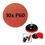 Kit Disco De 115mm E 10 Lixas P/ Politriz E Esmerilhadeira