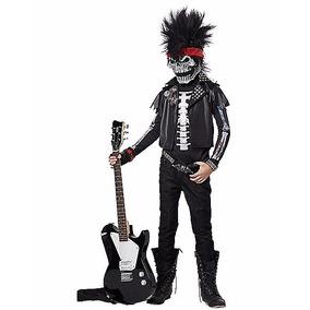 Disfraz Niño Esqueleto Rockero Traje Catrin Halloween