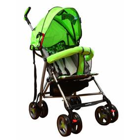 Carriola Plegable Verde Infantil Bebe Portable Baston 6718
