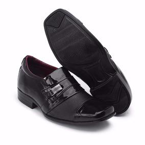 Sapato Social Infantil Couro Casamento Uniforme 444 Verniz#