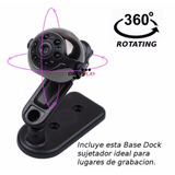 Mini Camara - Sq9 - 1080p Hd - 360°- Vision Nocturna - Espia