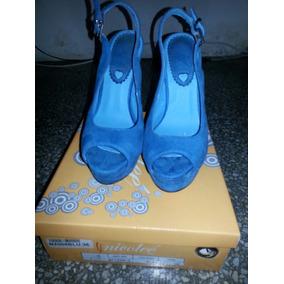 Oferta Tacones Con Plataformas Nicolee Azules
