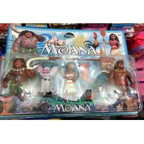 Kit 4 Personagens Filme Moana + 2 Acessórios