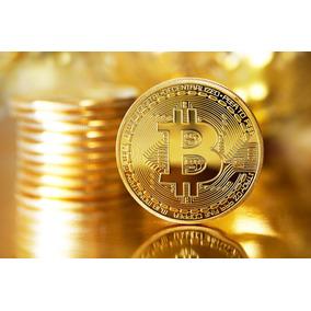 Moeda Fisica Bitcoin Detalhes Alto Relevo Coleçao (original)