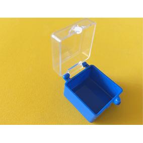 Caja Mini D Plástico (100) Tapa Transparente 2.5 X 2.5 X 2cm