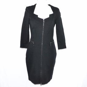 Caché Vestido Negro Cierre 8 Msrp $700