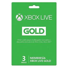 Membresía Xbox Live Gold 3 Meses Envío Gratis