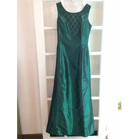 Vestido Longo Tafetá Esmeralda