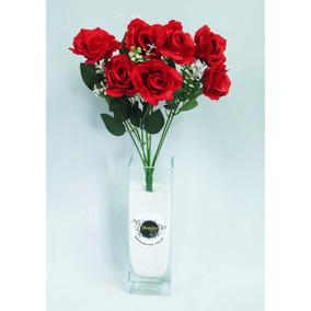 Buquê Rosas Artificiais Diff Flores Artificiais Arranjos