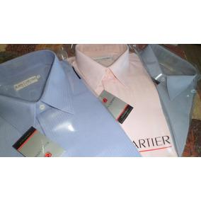 Camisas De Vestir Tela Labrada Jean Cartier Talles 46 Al 50.