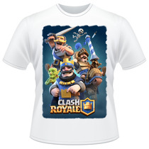Camiseta Clash Royale King Prince Knight Jogo Celular Camisa