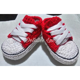 Zapatitos Tenis Tejido Crochet(converse-adidas) Detalles Luz