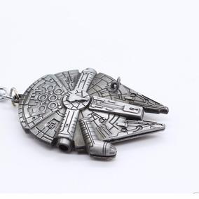 Millenium Falcon Star Wars Chaveiro Em Aço 3d Nave Hans Solo