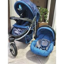 Carrinho De Bebê 3 Rodas De Alumínio+bebe Conforto Baby Happ