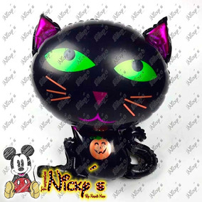 Globo Gato Negro De 63x55cm De Dia De Muertos O Halloween