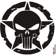 Calcomanía Punisher 03 28 X 27 Cm Graficastuning