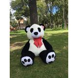 Muñeco Oso Panda De Peluche Super Gigante Con Moño 1.90 Cms