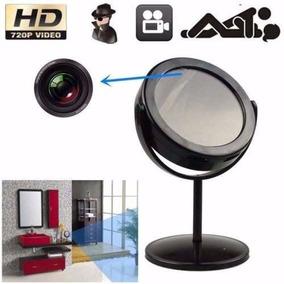 Câmera Espiã Formato Espelho De Mesa - Pronta Entrega