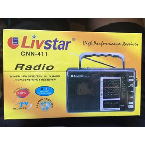 Radio Am Fm1 Fm2 Fm3 Tv Receiver Sw1-10 14 Bandas Cnn-411