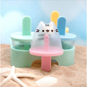 Pusheen The Cat Moldes Para Paletas D Hielo + Popotes Gatita
