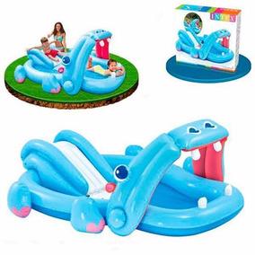 Piscina Intex Centro De Diversões Hipopótamo C/ Escorregador