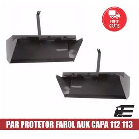 Protetor Farol Auxiliar Capa Parachoque Scania 112 113 Par