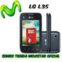 Telefono Cel Lg L35 Original Android 4 Solo Para Movistar