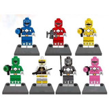 Set 7 Figuras Power Rangers Compatibles Con Legos