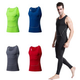 Playera Camisa Modeladora Top Ajustado Hombre Gym Fitness