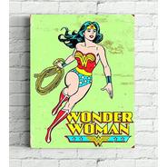 2 Quadros  Mulher Maravilha E Superman Impressão Em Canvas