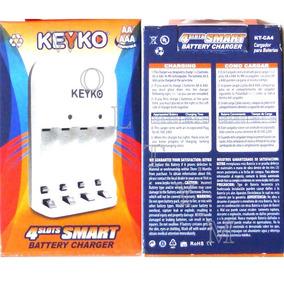 Cargador Keyko Para 4 Pilas Recargables Aa Aaa